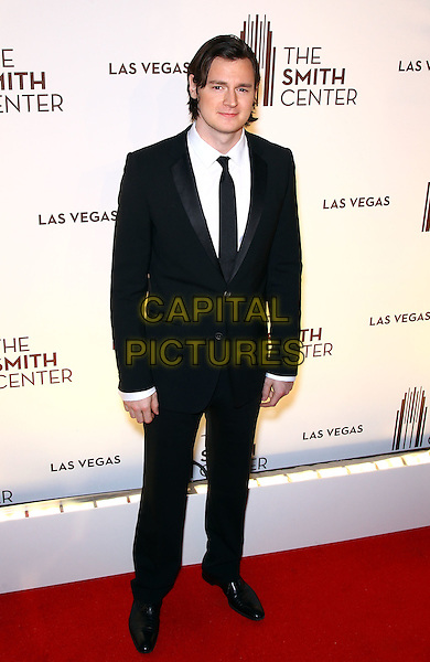 Benjamin Walker.Grand opening of The Smith Center for the Performing Arts, Las Vegas, Las Vegas, Nevada, USA, .10th March 2012..full length black suit tie white shirt .CAP/ADM/MJT.© MJT/AdMedia/Capital Pictures.