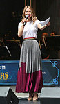 Melissa Benoist performing at the United Airlines Presents: #StarsInTheAlley Produced By The Broadway League on June 1, 2018 in New York City.