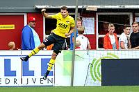 EMMEN - Voetbal, FC Emmen - AZ, De  Oude Meerdijk, Eredivisie, seizoen 2018-2019, 19-08-2018,  Oussama Idrissi juicht na de 1-3
