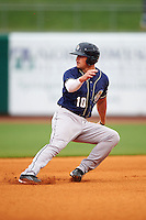 San Antonio Missions outfielder Hunter Renfroe (10) running the bases during a game against the NW Arkansas Naturals on May 30, 2015 at Arvest Ballpark in Springdale, Arkansas.  San Antonio defeated NW Arkansas 5-2.  (Mike Janes/Four Seam Images)