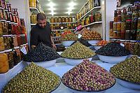 Olives vendor on the market