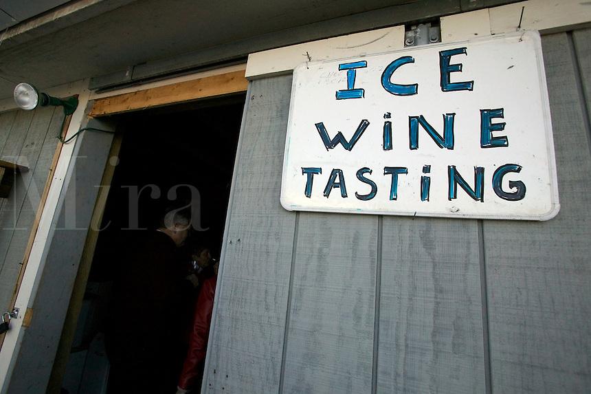 entrance to the ice wine tastin