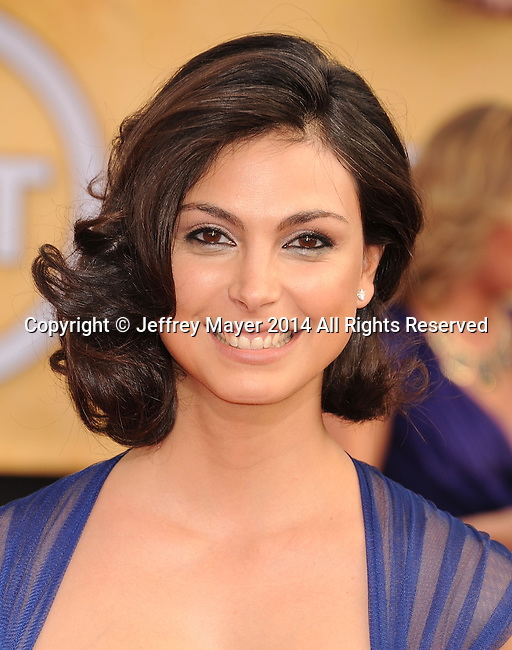 LOS ANGELES, CA- JANUARY 18: Actress Morena Baccarin  arrives at the 20th Annual Screen Actors Guild Awards at The Shrine Auditorium on January 18, 2014 in Los Angeles, California.