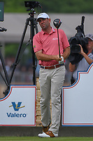 Josh Teater (USA) watches his tee shot on 11 during day 3 of the Valero Texas Open, at the TPC San Antonio Oaks Course, San Antonio, Texas, USA. 4/6/2019.<br /> Picture: Golffile | Ken Murray<br /> <br /> <br /> All photo usage must carry mandatory copyright credit (&copy; Golffile | Ken Murray)