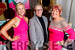 Sandra Maher (San Rita Wellness), Danny Leen and Rita Holly (San Rita Wellness) at their Wellness and Fashion show in the Rose Hotel on Friday night.