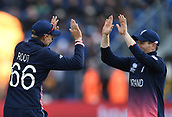 Jun 6th, The SSE SWALEC, Cardiff, Wales; ICC Champions Trophy; England versus New Zealand; Joe Root of England celebrates catching Martin Guptill of New Zealand