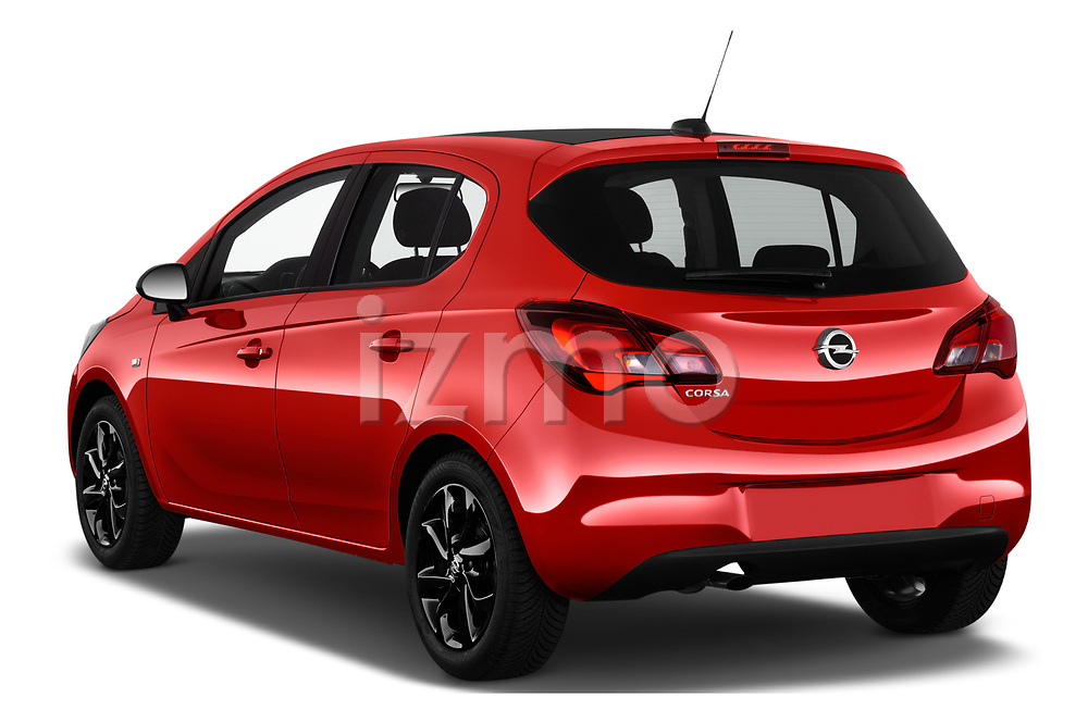 Car pictures of rear three quarter view of 2018 Opel Corsa Black-Edition 5 Door Hatchback Angular Rear