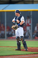 GCL Rays catcher Jordyn Muffley (11) during the second game of a doubleheader against the GCL Twins on July 18, 2017 at Charlotte Sports Park in Port Charlotte, Florida.  GCL Twins defeated the GCL Rays 4-2 after the game was postponed in the second inning to the following day at Charlotte Sports Park in Port Charlotte, Florida.  (Mike Janes/Four Seam Images)