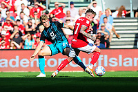 Jake Bidwell of Swansea City vies for possession with Sammie Szmodics of Bristol City during the Sky Bet Championship match between Bristol City and Swansea City at Ashton Gate in Bristol, England, UK. Saturday 21 September 2019