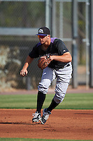 Colorado Rockies Kevin Padlo (37) during practice before an instructional league game against the SK Wyverns on October 10, 2015 at the Salt River Fields at Talking Stick in Scottsdale, Arizona.  (Mike Janes/Four Seam Images)