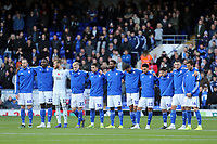 Ipswich Town  remembers the fallen of wars before Ipswich Town vs Lincoln City, Emirates FA Cup Football at Portman Road on 9th November 2019