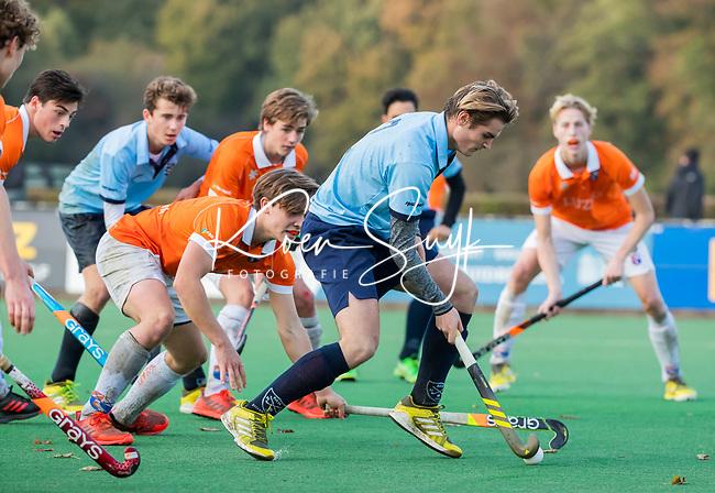 BLOEMENDAAL  -David Huussen (Nijmegen),   , competitiewedstrijd junioren  landelijk  Bloemendaal JA1-Nijmegen JA1 (2-2) . COPYRIGHT KOEN SUYK