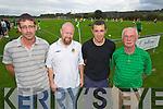 Brendan Carey, Brian Carthy, Aidan Carey and Mick Barry pictured at the Ireland v Estonia U-16 International friendly at Pat Kennedy Park Listowel on Tuesday