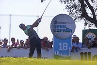 Sergio Garcia (ESP) on the 18th tee during the third round of the Mutuactivos Open de Espana, Club de Campo Villa de Madrid, Madrid, Madrid, Spain. 05/10/2019.<br /> Picture Hugo Alcalde / Golffile.ie<br /> <br /> All photo usage must carry mandatory copyright credit (© Golffile | Hugo Alcalde)