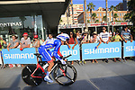 Rudy Molard (FRA) Groupama-FDJ during Stage 1 of the La Vuelta 2018, an individual time trial of 8km running around Malaga city centre, Spain. 25th August 2018.<br /> Picture: Ann Clarke | Cyclefile<br /> <br /> <br /> All photos usage must carry mandatory copyright credit (© Cyclefile | Ann Clarke)