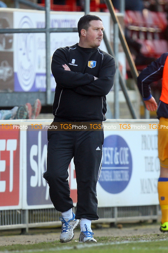 Mansfield Town manager Paul Cox - Dagenham and Redbridge vs Mansfield Town, Sky Bet League Two football at the London Borough of Barking and Dagenham Stadium - 01/03/14 - MANDATORY CREDIT: Dave Simpson/TGSPHOTO - Self billing applies where appropriate - 0845 094 6026 - contact@tgsphoto.co.uk - NO UNPAID USE