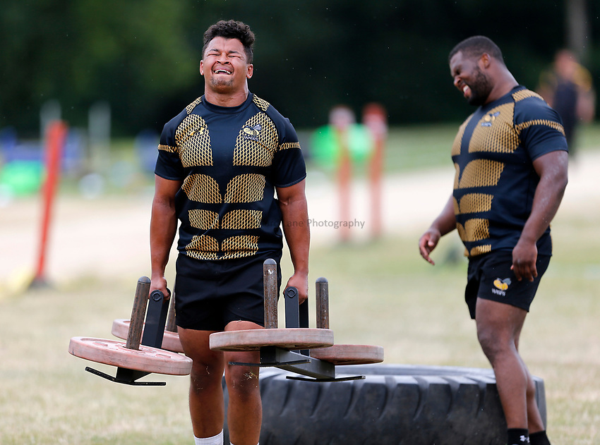 Photo: Richard Lane Photography. Wasps Training. 10/07/2017. Wasps' Antonio 'TJ' Harris.