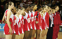 16.11.2007 England prior to the Australia v England match at the New World Netball World Champs held at Trusts Stadium Auckland New Zealand. Mandatory Photo Credit ©Michael Bradley.