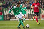 13.04.2019, Weser Stadion, Bremen, GER, 1.FBL, Werder Bremen vs SC Freiburg, <br /> <br /> DFL REGULATIONS PROHIBIT ANY USE OF PHOTOGRAPHS AS IMAGE SEQUENCES AND/OR QUASI-VIDEO.<br /> <br />  im Bild<br /> <br /> Theodor Gebre Selassie (Werder Bremen #23)<br /> <br /> Foto © nordphoto / Kokenge