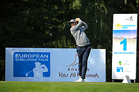 Lorenzo Gagli (ITA) during the first round of the Kazakhstan Open presented by ERG played at Zhailjau Golf Resort, Almaty, Kazakhstan. 13/09/2018<br /> Picture: Golffile | Phil Inglis<br /> <br /> All photo usage must carry mandatory copyright credit (&copy; Golffile | Phil Inglis)
