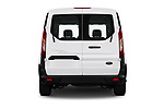 Straight rear view of 2019 Ford Transit-Connect XL 5 Door Car Van Rear View  stock images