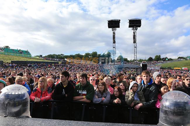 Slane 2013 Bon Jovi Concert,<br /> the Coranas on stage<br /> Picture:  Fran Caffrey / www.newsfile.ie