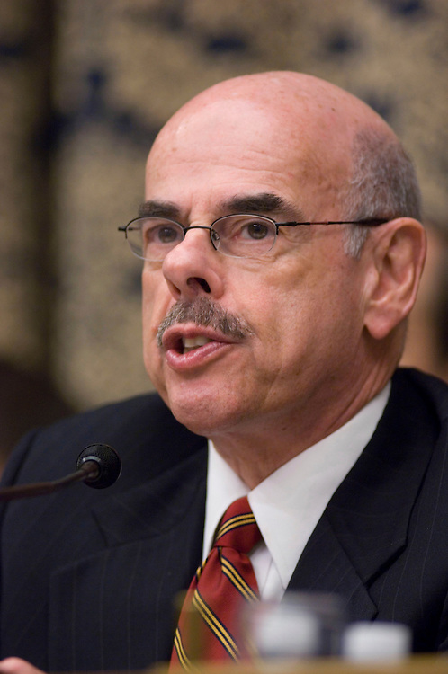 WASHINGTON, DC - Jan. 15, 2008: Chairman Henry A. Waxman, D-Calif., during the House Oversight and Government Reform Committee hearing on a report by former Sen. George Mitchell, who released the scathing report last month on Major League Baseball's abuse of steroids, human growth hormone and other performance-enhancing substances, Under pressure from lawmakers, Major League Baseball officials on Tuesday agreed to make more changes to the sportÕs antidrug policies before 2008 spring training begins. House Oversight and Government Reform Committee leaders said they were encouraged by the commitment. It came after a plea from former Sen. George Mitchell Ñ the investigator who revealed the breadth and depth of baseballÕs drug problems Ñ for Congress to Òencourage and allowÓ the league to clean up its own act. (Congressional Quarterly Photo by Scott J. Ferrell)