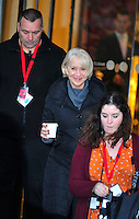 November 13th 2012 - London..Helen Mirren leaving the Langham Hotel.<br />