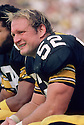 Pittsburgh Steelers Mike Webster (52) sideline portrait  during a game from his 1980 season with the Pittsburgh Steelers. Mike Webster played for 17 years, with 2 different teams, was a 9-time Pro Bowler  and was inducted into the Pro Football Hall of Fame in 1997.(SportPics)