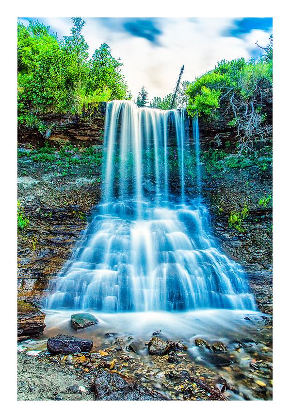 Falls Creek waterfall, Clam Gulch, Alaska