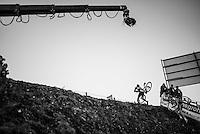 Tom Meeusen (BEL/Telenet-Fidea) up the infamous steep 'wall' on the course<br /> <br /> 2016 CX Superprestige Spa-Francorchamps (BEL)