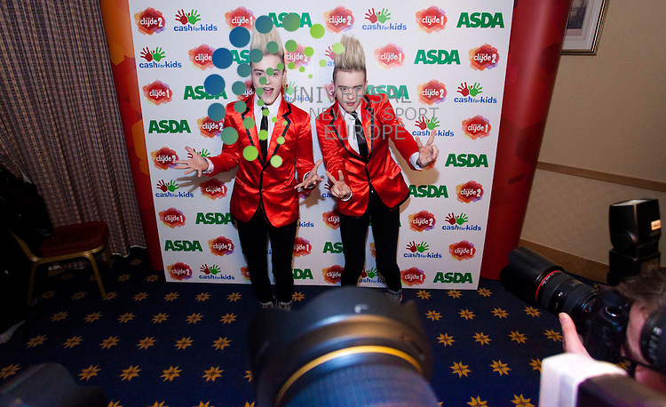 X factor stars Jedward at cash for kids hilton Glasgow.Picture: Johnny Mclauchlan News and Sport (Europe)02/12/2011