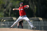Boston Red Sox pitcher Taylor Nunez (74) during a minor league spring training game against the Baltimore Orioles on March 18, 2015 at Buck O'Neil Complex in Sarasota, Florida.  (Mike Janes/Four Seam Images)