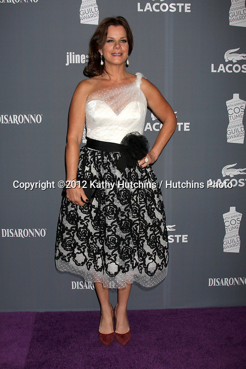 LOS ANGELES - FEB 21:  Marcia Gay Harden arrives at the 14th Annual Costume Designers Guild Awards at the Beverly Hilton Hotel on February 21, 2012 in Beverly Hills, CA.