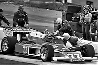 "HAMPTON, GA - APRIL 22:David ""Salt"" Walther makes a pit stop in his Penske PC6/Cosworth TC) during the Gould Twin Dixie 125 event on April 22, 1979, at Atlanta International Raceway near Hampton, Georgia."