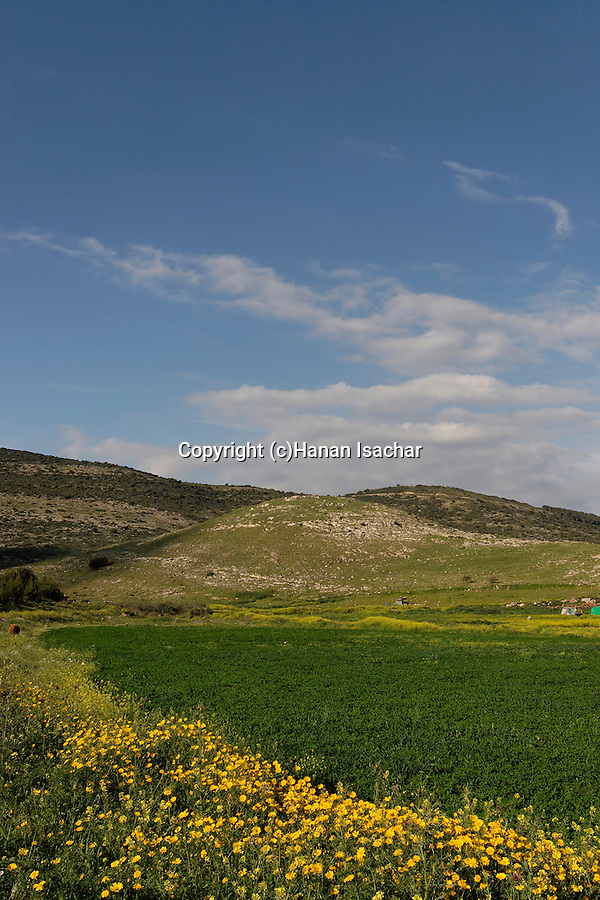 Israel, the Lower Galilee, Tel Cana the location of Hurbat Cana.