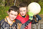 FUN: Cathal Murphy and Shane Kelliher having fun at the Austin Stacks Easter Football Camp in CBS The Green on Tuesday.