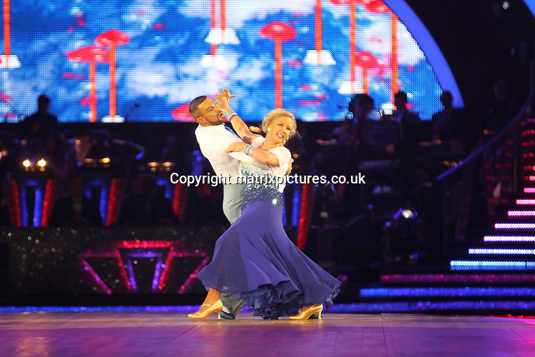 EXCLUSIVE ALL ROUND PICTURE:  TREVOR ADAMS / MATRIXPICTURES.CO.UK<br /> PLEASE CREDIT ALL USES<br /> <br /> WORLD RIGHTS<br /> <br /> British businesswoman and television personality Deborah Meaden is pictured taking part in the first night of the 2014 Strictly Come Dancing Live Tour held at Wembley Arena in London, England.<br /> <br /> Joining the celebrity contestant line-up are Craig Revel Horwood, Len Goodman and Bruno Tonioli, as the tour&rsquo;s formidable judges.<br /> <br /> JANUARY 20th 2014<br /> <br /> REF: MTX 14301