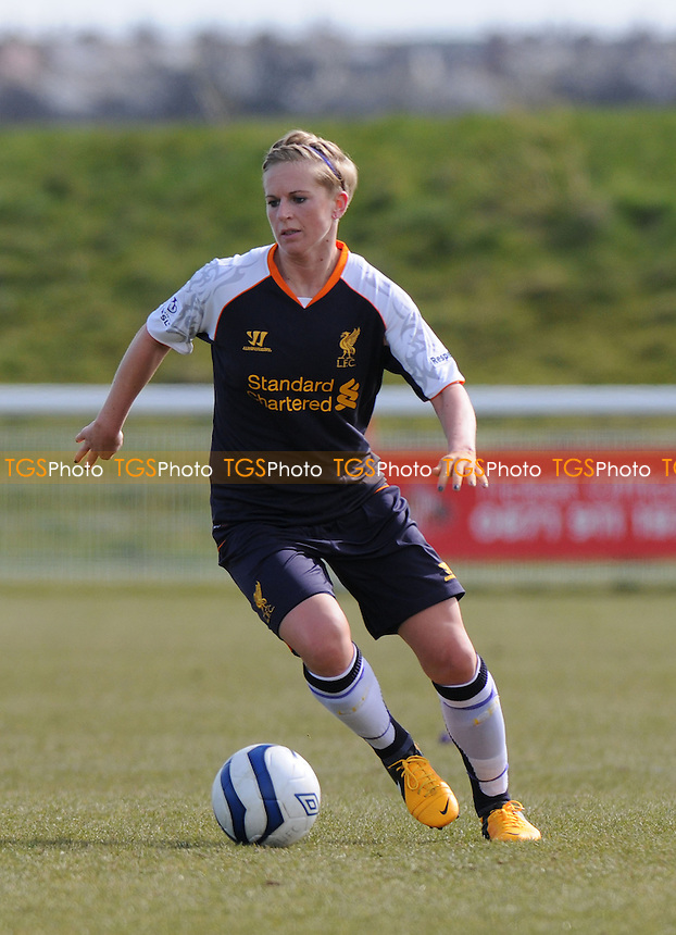 Natasha Dowie of Liverpool - Sunderland Women vs Liverpool Women - FA Womens Cup Quarter-Final at the Academy of Light - 31/03/13 - MANDATORY CREDIT: Steven White/TGSPHOTO - Self billing applies where appropriate - 0845 094 6026 - contact@tgsphoto.co.uk - NO UNPAID USE.