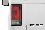 Tail light close up detail view of a 2009 Ford E 150 Cargovan
