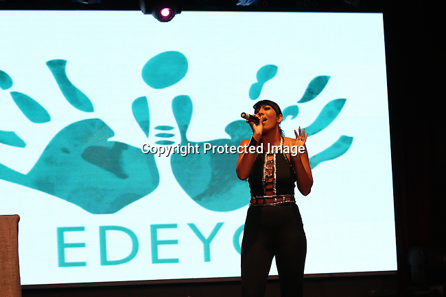 Bridget Kelly Performing at Unik Ernest's Edeyo Gives Hope Ball Held at the Highline Ballroom, NY