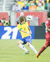 Brazil defender David Luiz (4).  In an International friendly match Brazil defeated Portugal, 3-1, at Gillette Stadium on Sep 10, 2013.