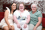 Amy Sarsfield with her cousin Leonie who won two medals for swimming at the Special Olympics in Limerick and Annemarie Sarsfield at her 21st in Harry's, Mell...Photo NEWSFILE/Jenny Matthews.(Photo credit should read Jenny Matthews/NEWSFILE)....This Picture has been sent you under the condtions enclosed by:.Newsfile Ltd..The Studio,.Millmount Abbey,.Drogheda,.Co Meath..Ireland..Tel: +353(0)41-9871240.Fax: +353(0)41-9871260.GSM: +353(0)86-2500958.email: pictures@newsfile.ie.www.newsfile.ie.FTP: 193.120.102.198.