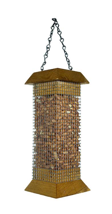 Peanut bird feeder for common garden birds