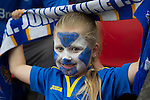 St Johnstone v FC Minsk...08.08.13 Europa League Qualifier<br /> A young saints fan<br /> Picture by Graeme Hart.<br /> Copyright Perthshire Picture Agency<br /> Tel: 01738 623350  Mobile: 07990 594431