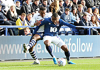 Blackburn Rovers' Amari'i Bell shields the ball from Preston North End's Darnell Fisher<br /> <br /> Photographer Rich Linley/CameraSport<br /> <br /> The EFL Sky Bet Championship - Preston North End v Blackburn Rovers - Saturday 26th October 2019 - Deepdale Stadium - Preston<br /> <br /> World Copyright © 2019 CameraSport. All rights reserved. 43 Linden Ave. Countesthorpe. Leicester. England. LE8 5PG - Tel: +44 (0) 116 277 4147 - admin@camerasport.com - www.camerasport.com