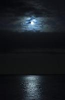 Moon over Lanikai, Kailua, Windward Oahu
