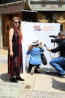 LOS ANGELES - MAY 15: Visitor at an event to sign a wedding card as they Kick Off Hollywood's Salute To The Royal Wedding at TCL Chinese Theatre IMAX on May 15, 2018 in Los Angeles, California