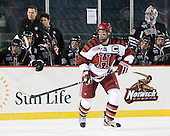 Ryan Grimshaw (Harvard - 6) - The Union College Dutchmen defeated the Harvard University Crimson 2-0 on Friday, January 13, 2012, at Fenway Park in Boston, Massachusetts.
