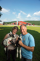 Ayer's Brook Goat Dairy Farm in Randolph, Vermont.